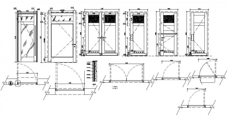 2d door blocks detail cad file