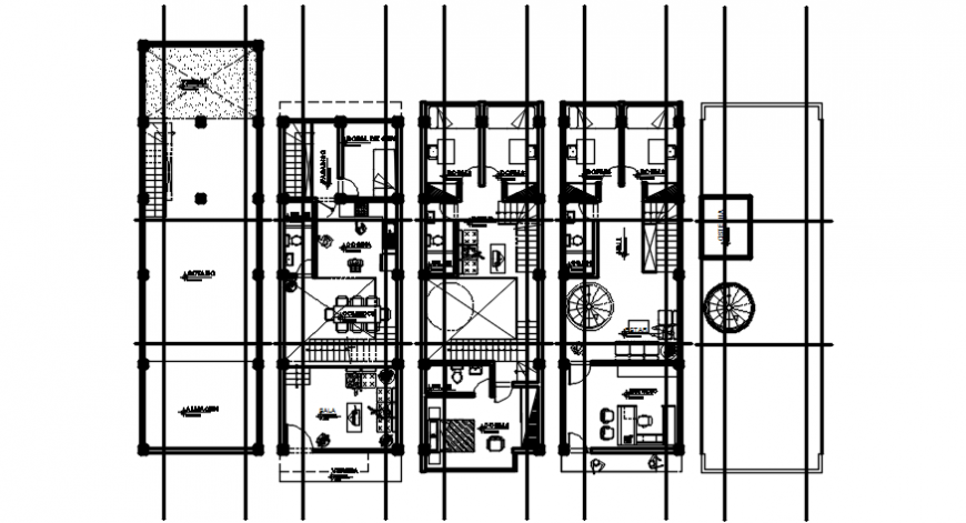2d Drawing a layout floor plan of house autocad software file