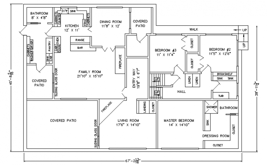 2d drawings detailing of centerline plan of a house in autocad software file