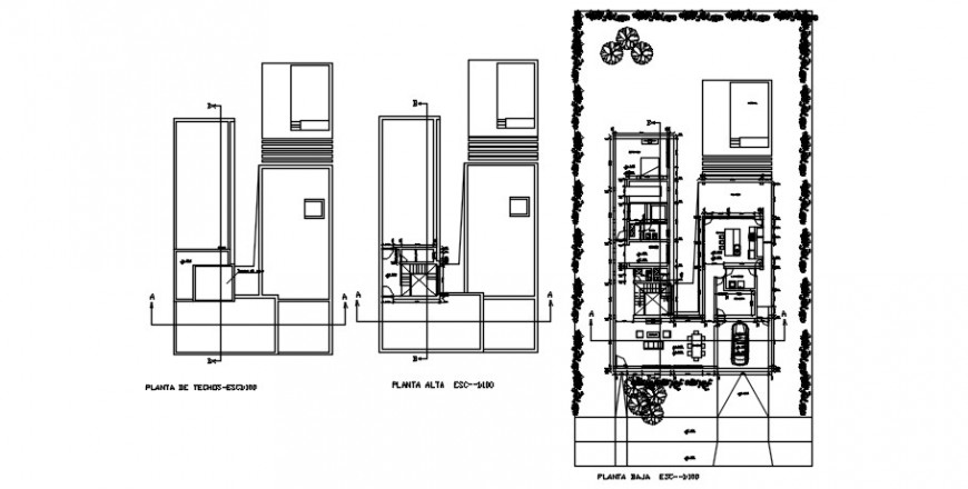 2d drawings details of CAD house plan dwg file
