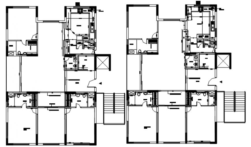 2d drawings details of a building blocks floor plan dwg file