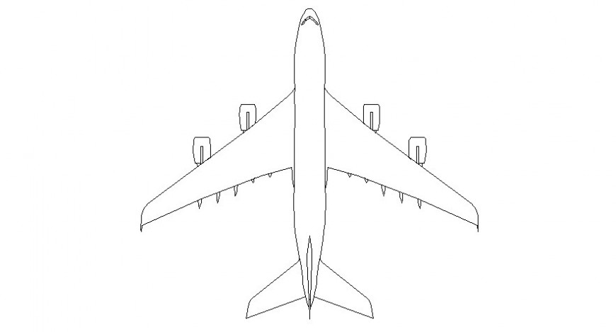 2d drawings details of airplane autocad software file