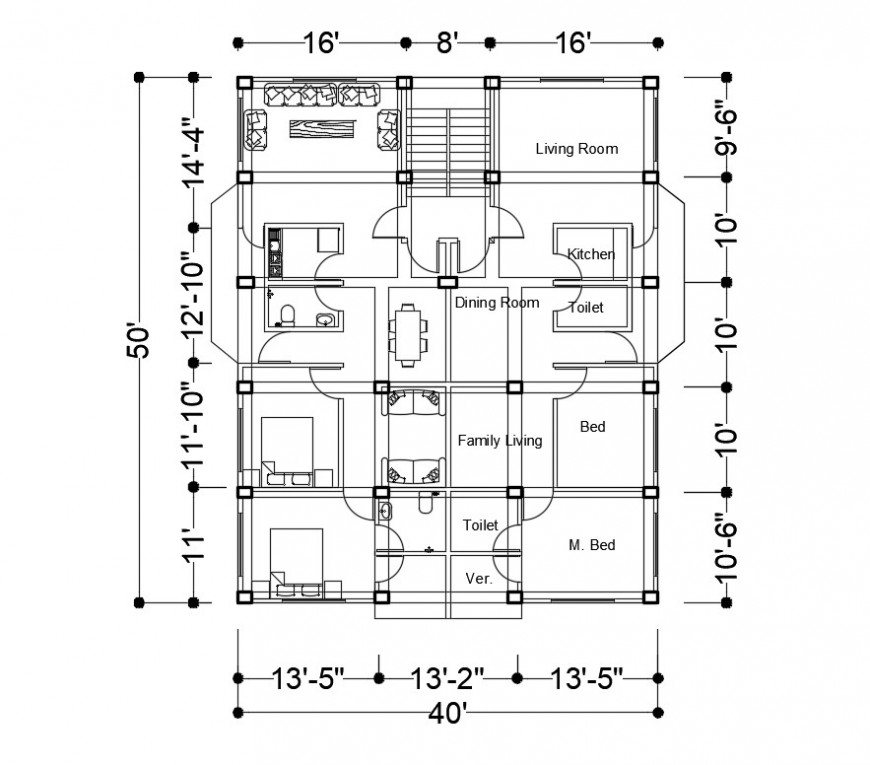 2d drawings details of apartment plan dwg autocad file