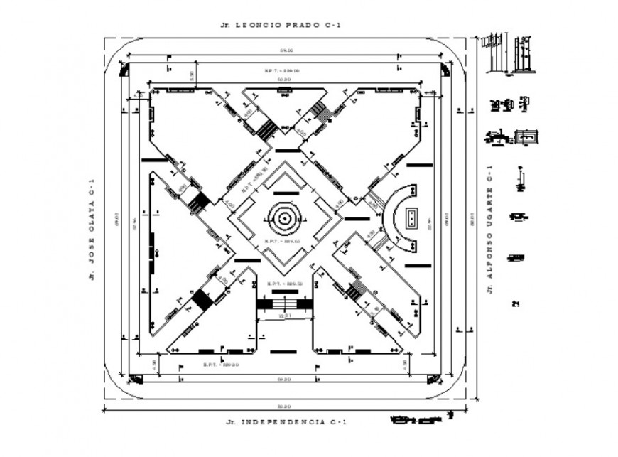 2d Drawings details of building area layout dwg file