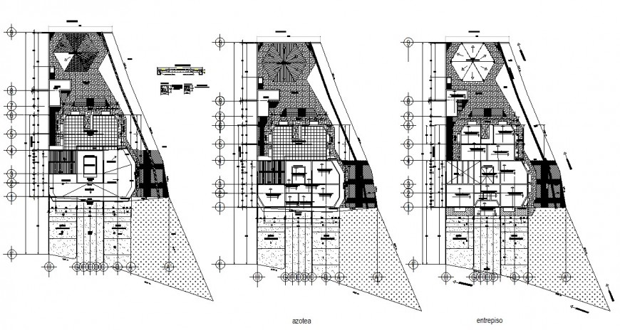 2d drawings details of building units plan dwg autocad software file
