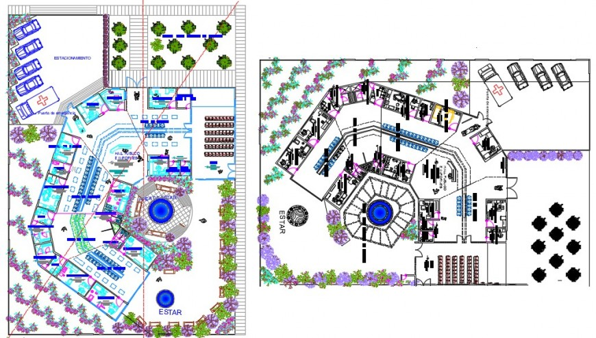 2d Drawings details of co-operative building units plan in autocad software file