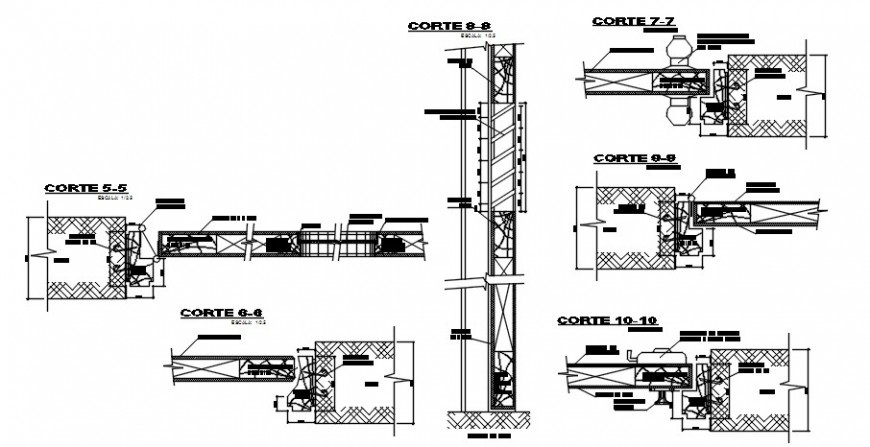 2d drawings details of door sectional units block dwg file
