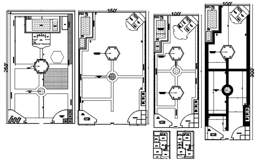 2d drawings details of farmhouse building area in autocad software file