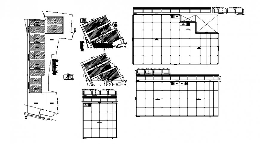 2d drawings details of godown plan and elevation dwg file