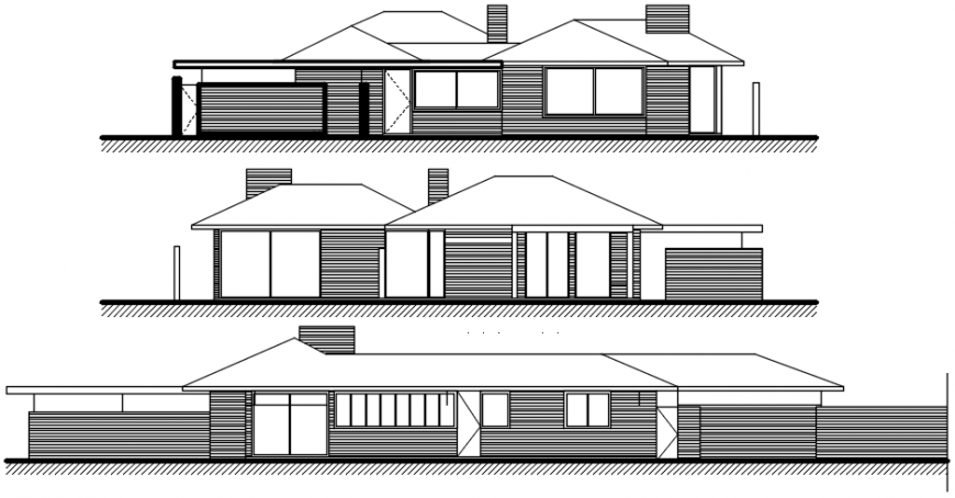 2d drawings details of housing blocks elevation autocad software file