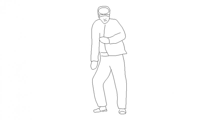 2d drawings details of people men blocks autocad file