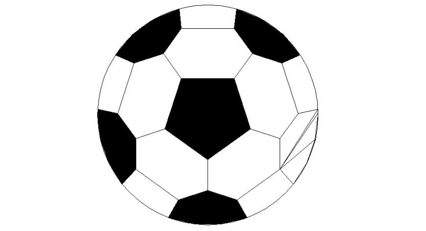 2d drawings details of sports play a block of ball autocad file