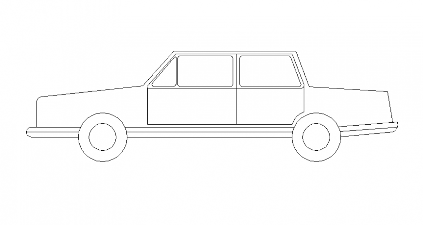 2d drawings elevation of vehicle car blocks autocad software file