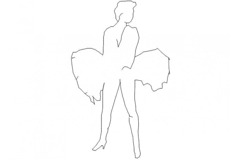 2d Drawings model of people blocks AutoCAD file