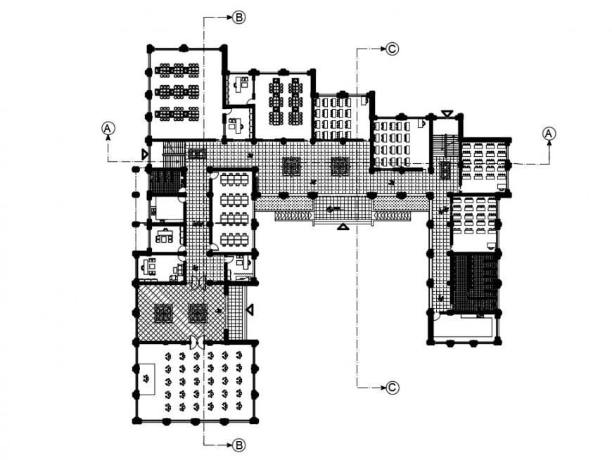 2d drawings of school building blocks detailing autocad file
