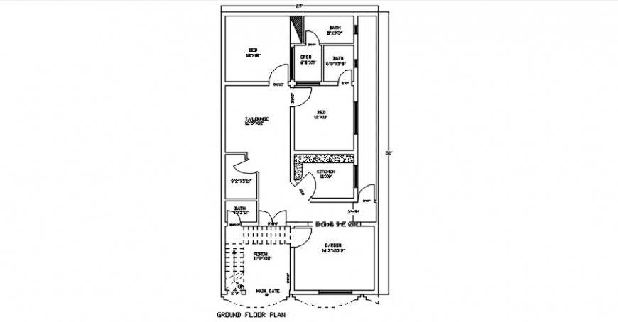 2d drawings plan of house units CAD layout autocad file