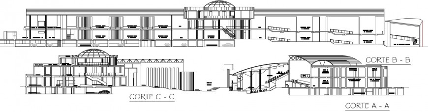 2d drawings section details of building units dwg autocad file