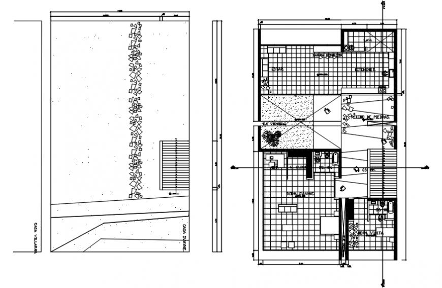 2d Floor house design dwg file