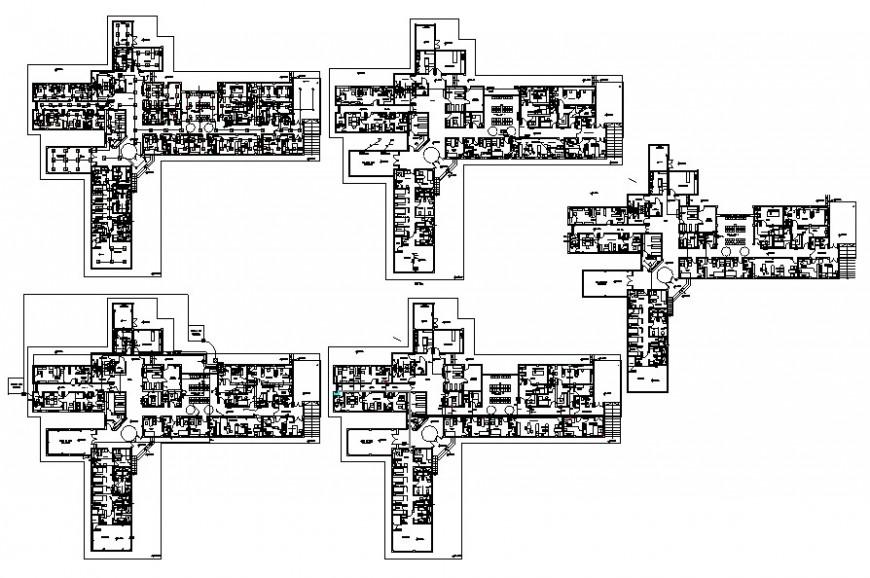 2d hospital building layout plan cad file