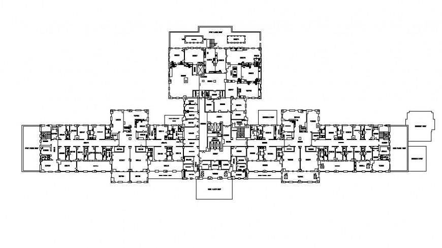 2d hospital floor 2d details block AutoCAD file