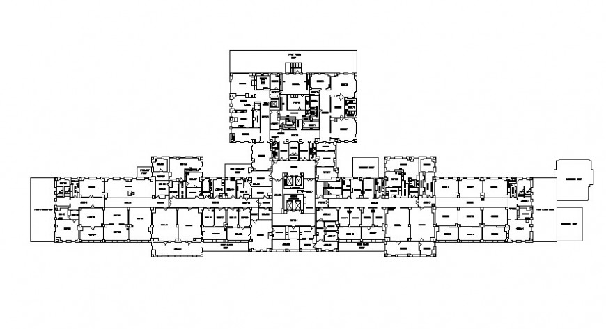 2d hospital floor 2d details model autocad file