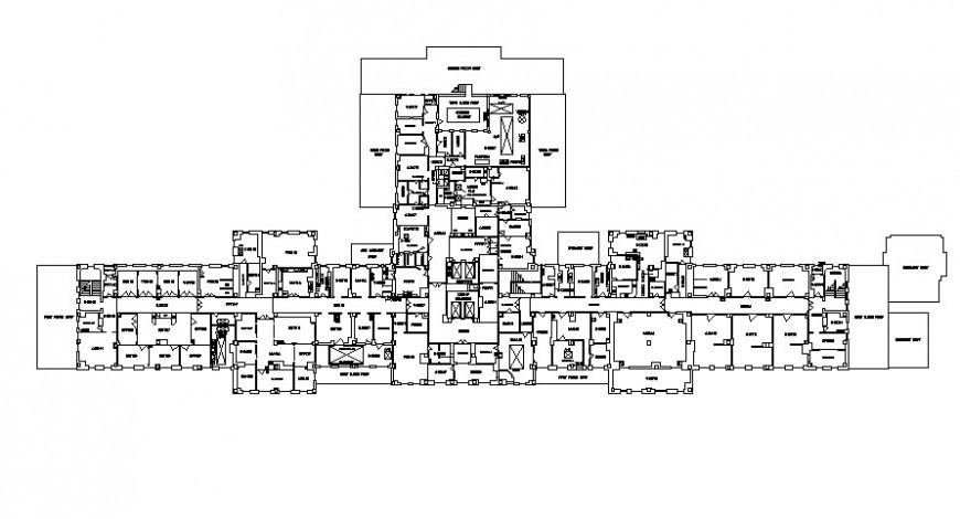 2d hospital floor 2d details model unit AutoCAD file