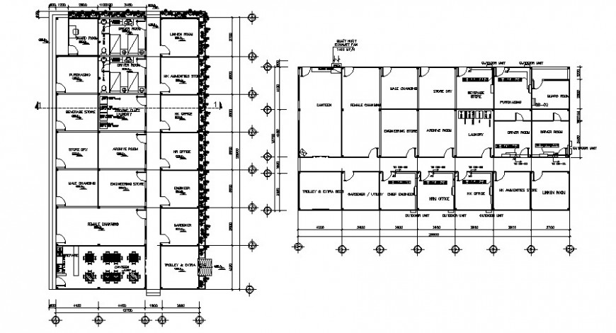 2d hotel project detail cad file