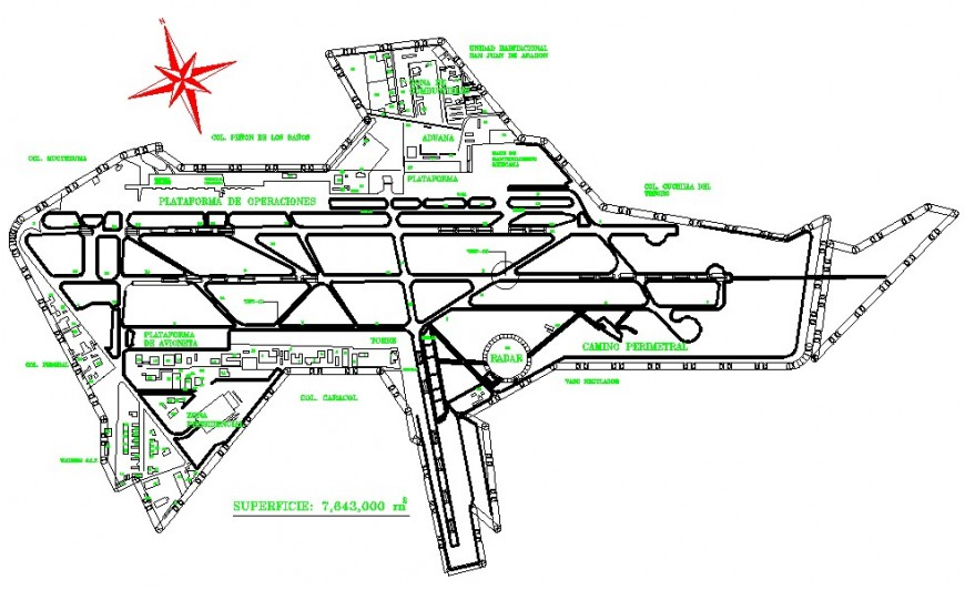 2d International Airport drawing