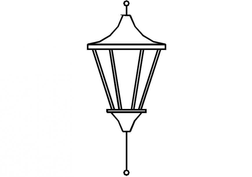 2D lamp detail model