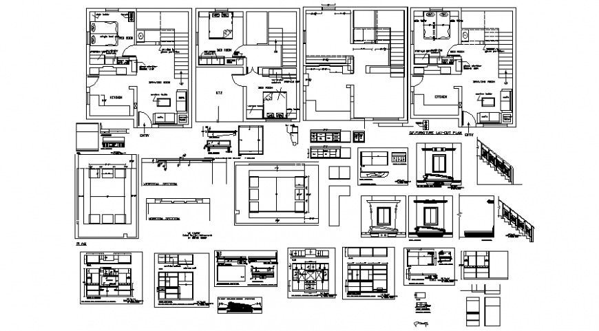 2d layout drawing plan of house autocad software file