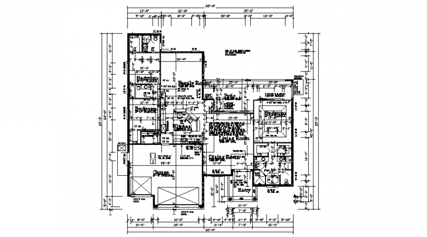 2d layout plan of house drawings details in autocad software file