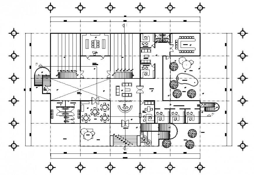 2d office floor detail cad file