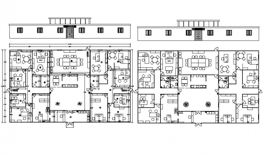 2d office floor layout plan cad file