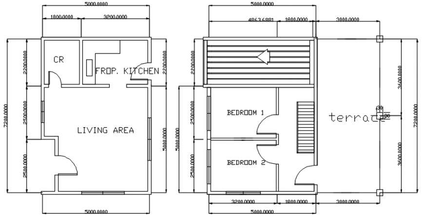 2d plan of apartment plan dwg autocad software file