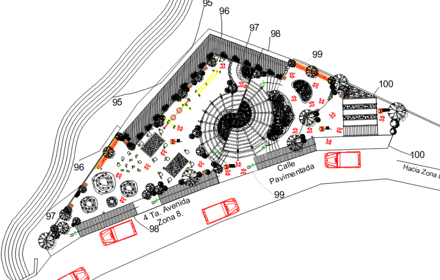 Garden Design Plans Ideas AutoCAD File Free Download - Cadbull