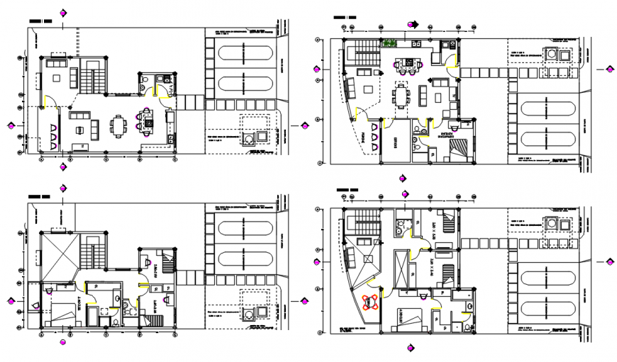 2d Residence Layout plan cad file