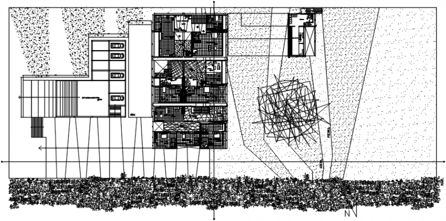 2d Residential layout plan dwg file