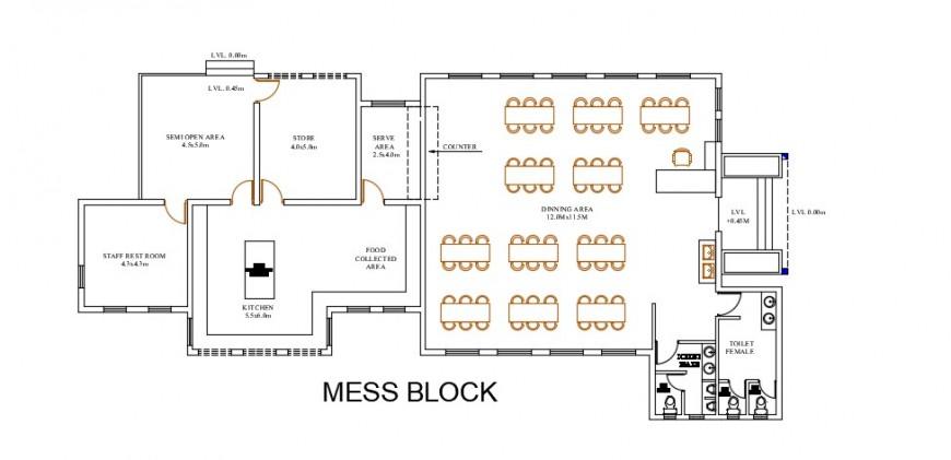 2d restaurant layout plan cad file