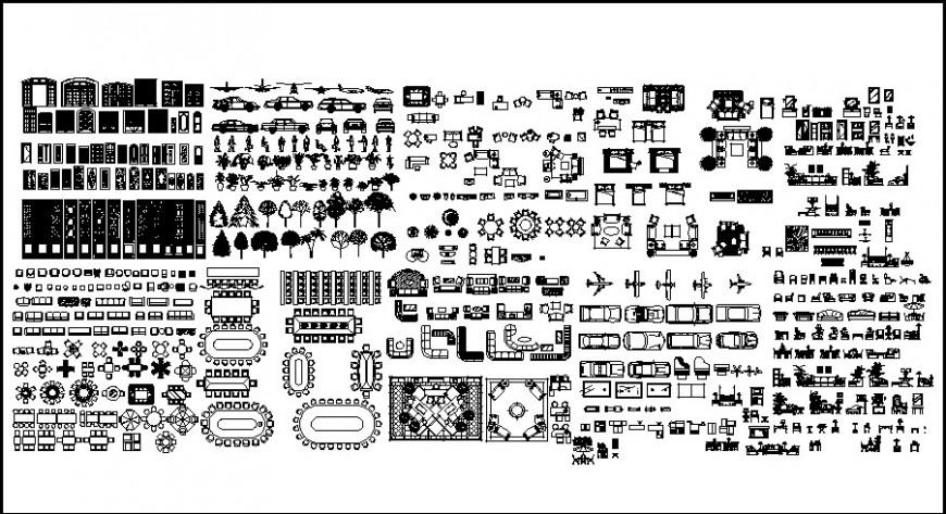 2D various cad blocks detail