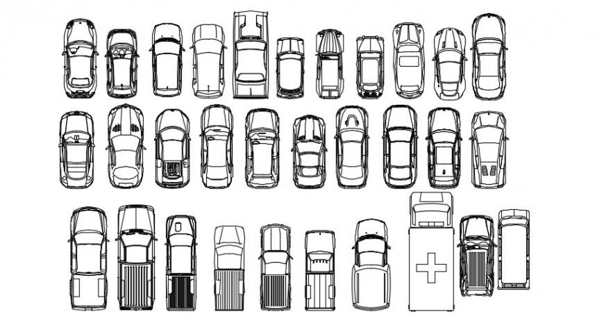 2d vehicle blocks dwg file