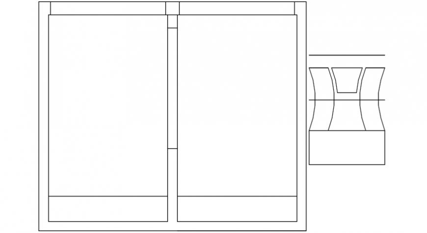 2d view drawings of window design blocks dwg autocad file