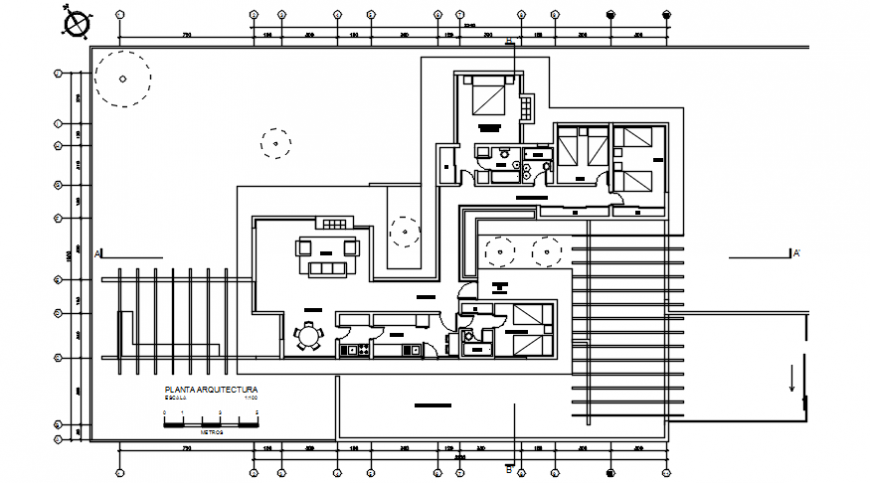 2d view floor plan CAD drawings of house autocad software file
