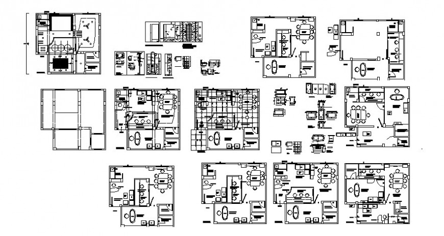 2d view floor plan of office building autocad software file