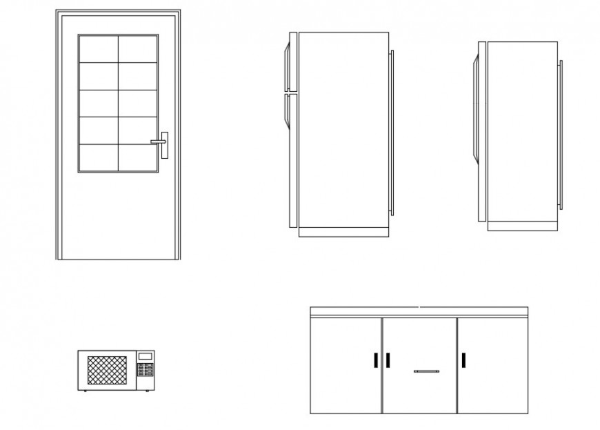 2d view furniture blocks and household units dwg file