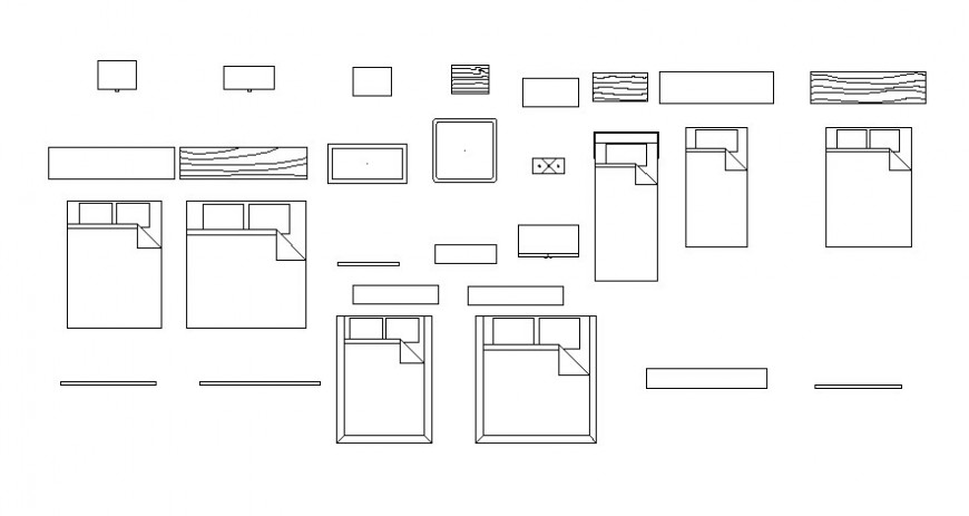 2d view furniture layout blocks drawings elevation autocad file