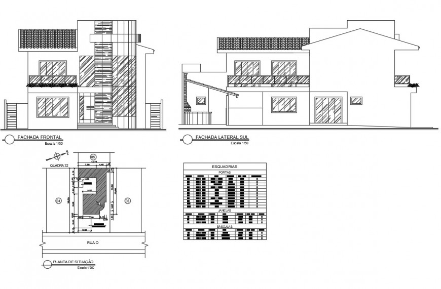 2d view of house elevation layout file in autocad format