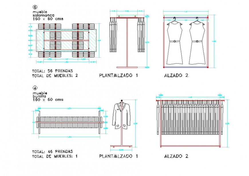2d view of wardrobe detail CAD furniture block layout file in autocad format