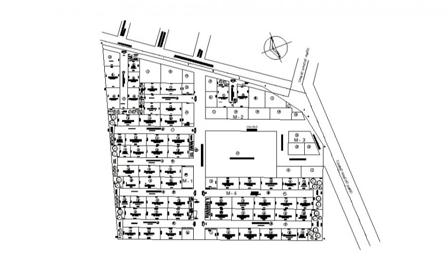 2d view site plan drawings layout details dwg file
