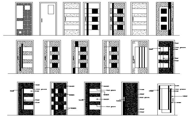 Wooden Door Block Design