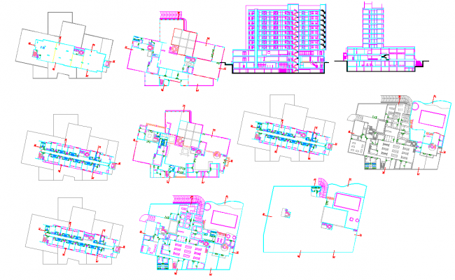 Hotel plan detail project